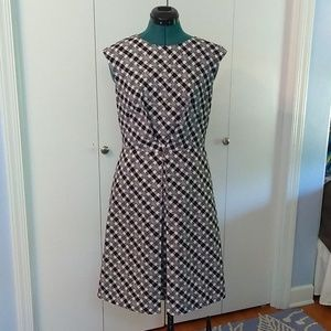 Brooks Brothers fit and flare cotton poplin dress